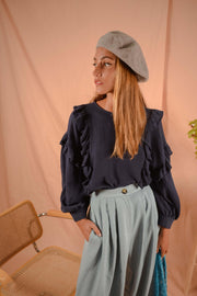 BOHEME blouse in cobalt