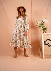 WINTER GARDEN dress in flowers
