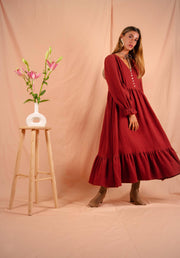 WINTER GARDEN dress in paprika