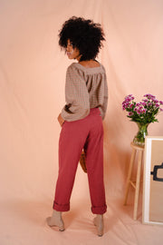 BIRKIN pants in beetroot