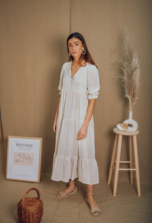 blue anemone bohemian boho tent hippie indian phool mayur white peasant gypsy folk tiered gauze cotton spring summer maxi dress
