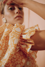 DELPHINE blouse in saffron flower - blueanemone