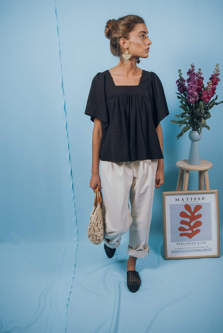 VOLVORETA top in black - blueanemone