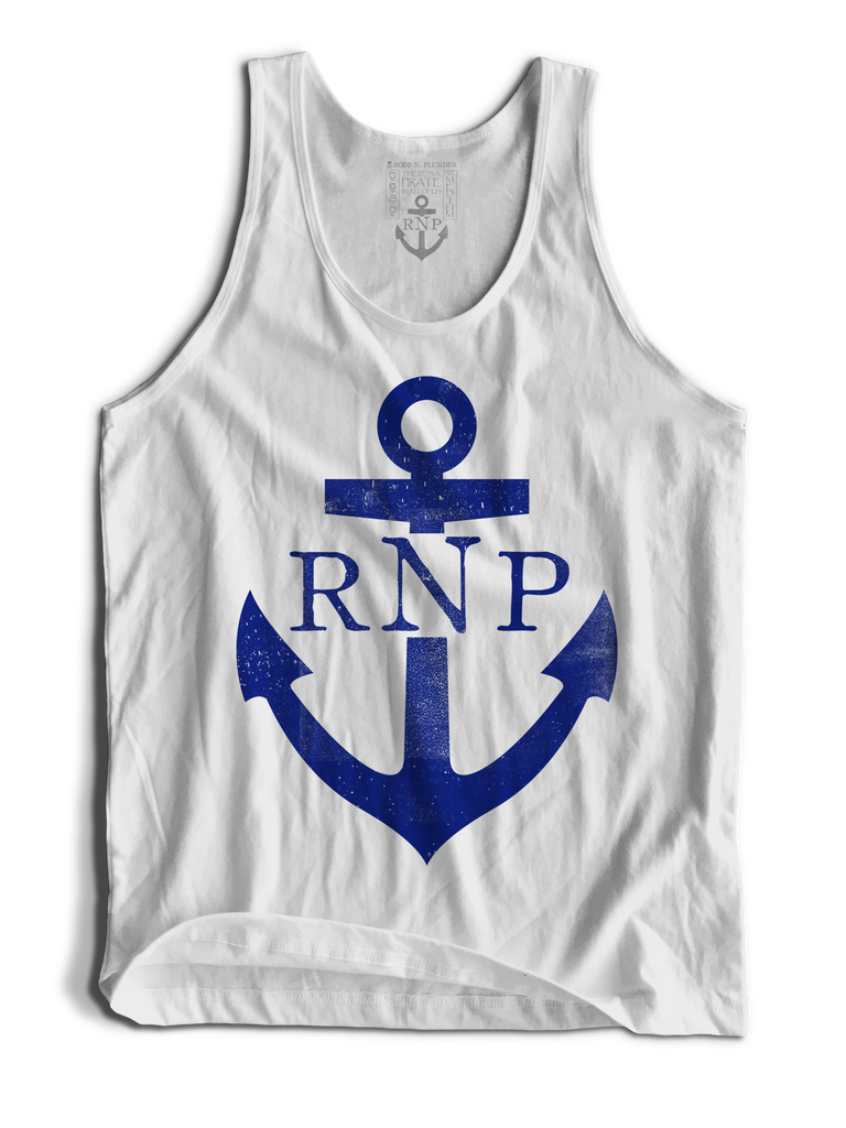 Anchor Tank Top - White - RobbNPlunder
