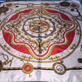 A2) White Compass scarf