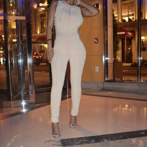 Pearls for the Girls jumpsuit
