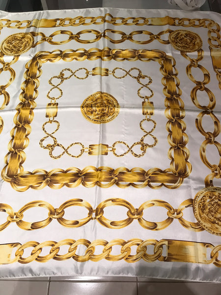 D29) Gold Chain scarf