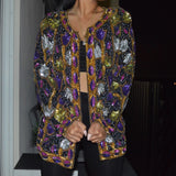 Purple Rain Mbellished jacket