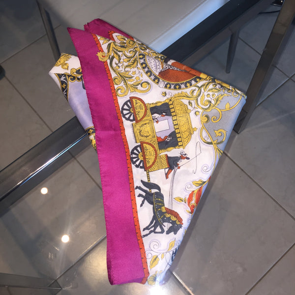 1C) Pink Carriage scarf
