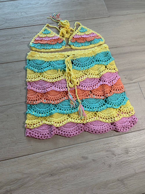 Lifesaver Crochet Skirt set