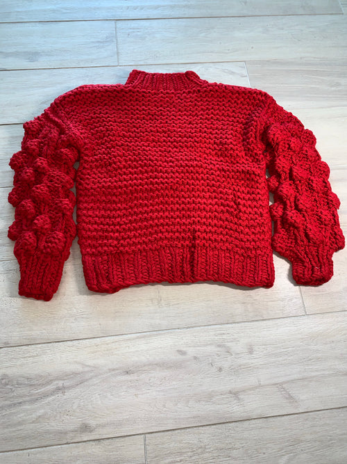 Knotty Red Sweater