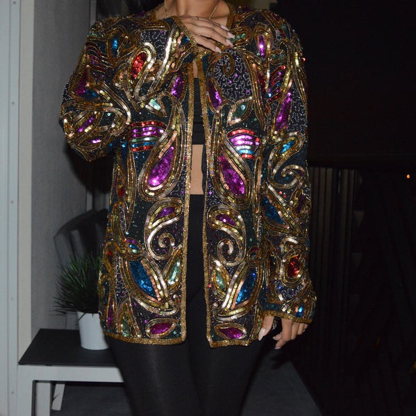 Festive Bling Mbellished jacket L/XL