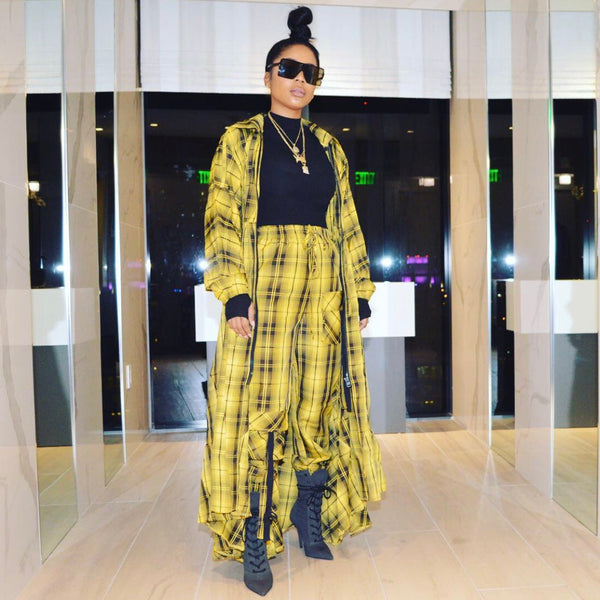 Yellow Cab Plaid jacket