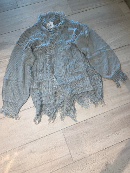Chilly fringe cardigan