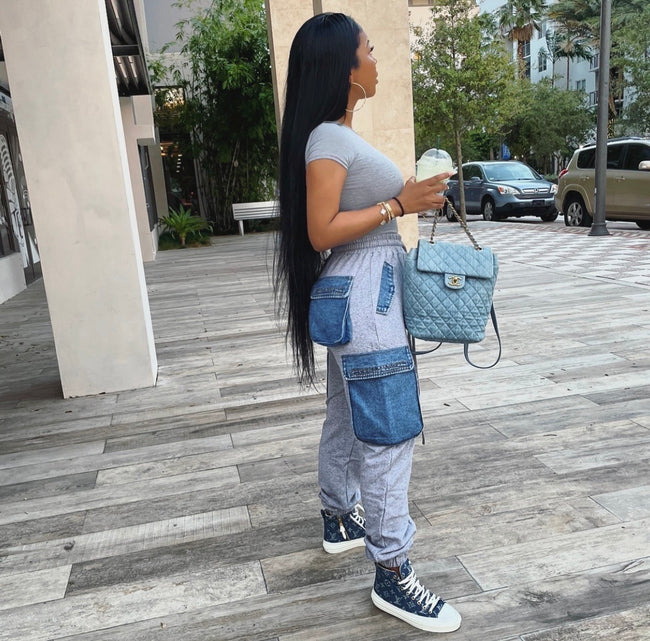 Denim and Sweats Collide joggers