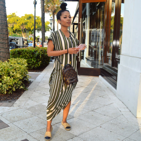 Funfetti Striped Shirt dress