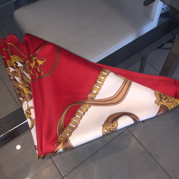 1C) Red Buckle scarf