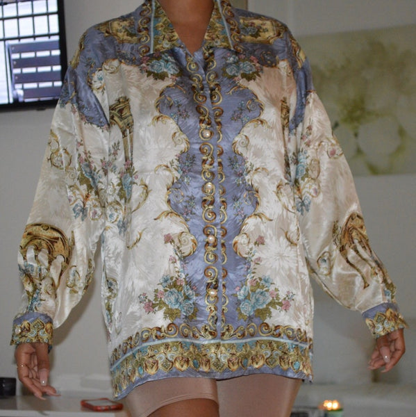 Silk Flower Garden Top