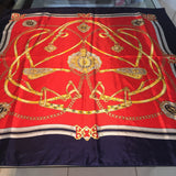1C) Red Navy Buckle scarf