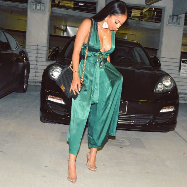 Elegant Emerald jumpsuit ***restocked