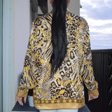 Leopard Chain Top