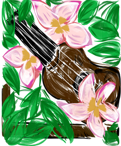 Ukulele in Flowers