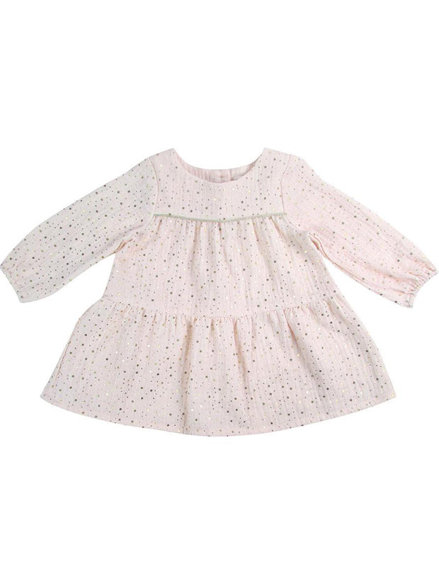 Gold Star Pink Muslin Dress