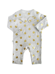 Foiled Star Rib Angel Babygrow