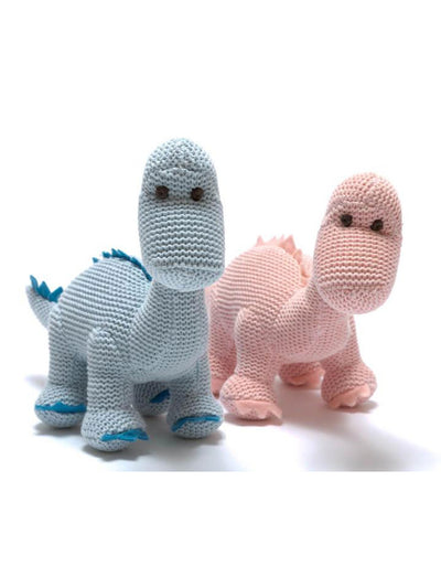 Organic Blue & Pink Knitted Diplodocus