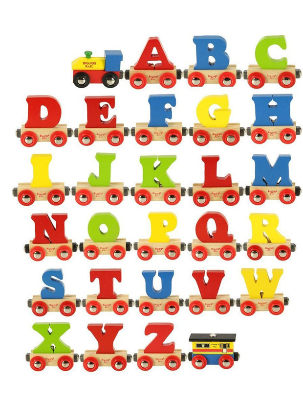 Wooden Alphabet Name Train