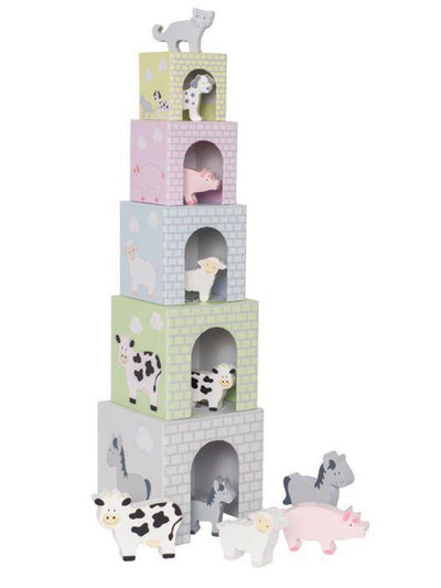 Animal Stacking Cubes