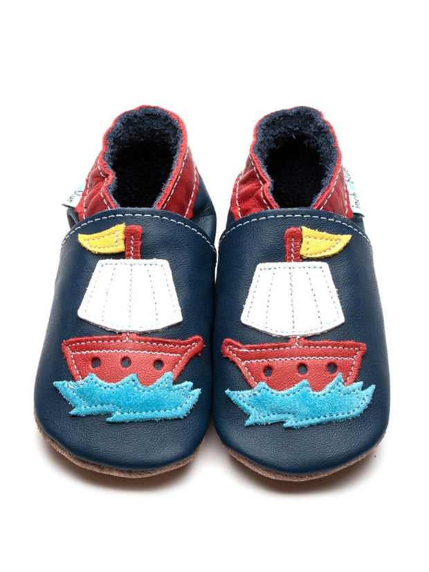 Navy Pirate Ship Soft Shoe