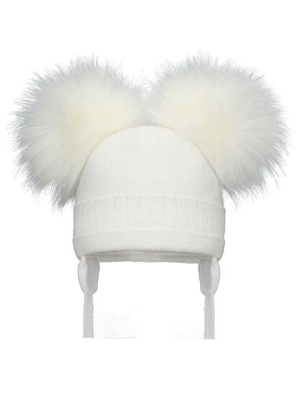 Double Cable Pom Pom Hat (More colours available)
