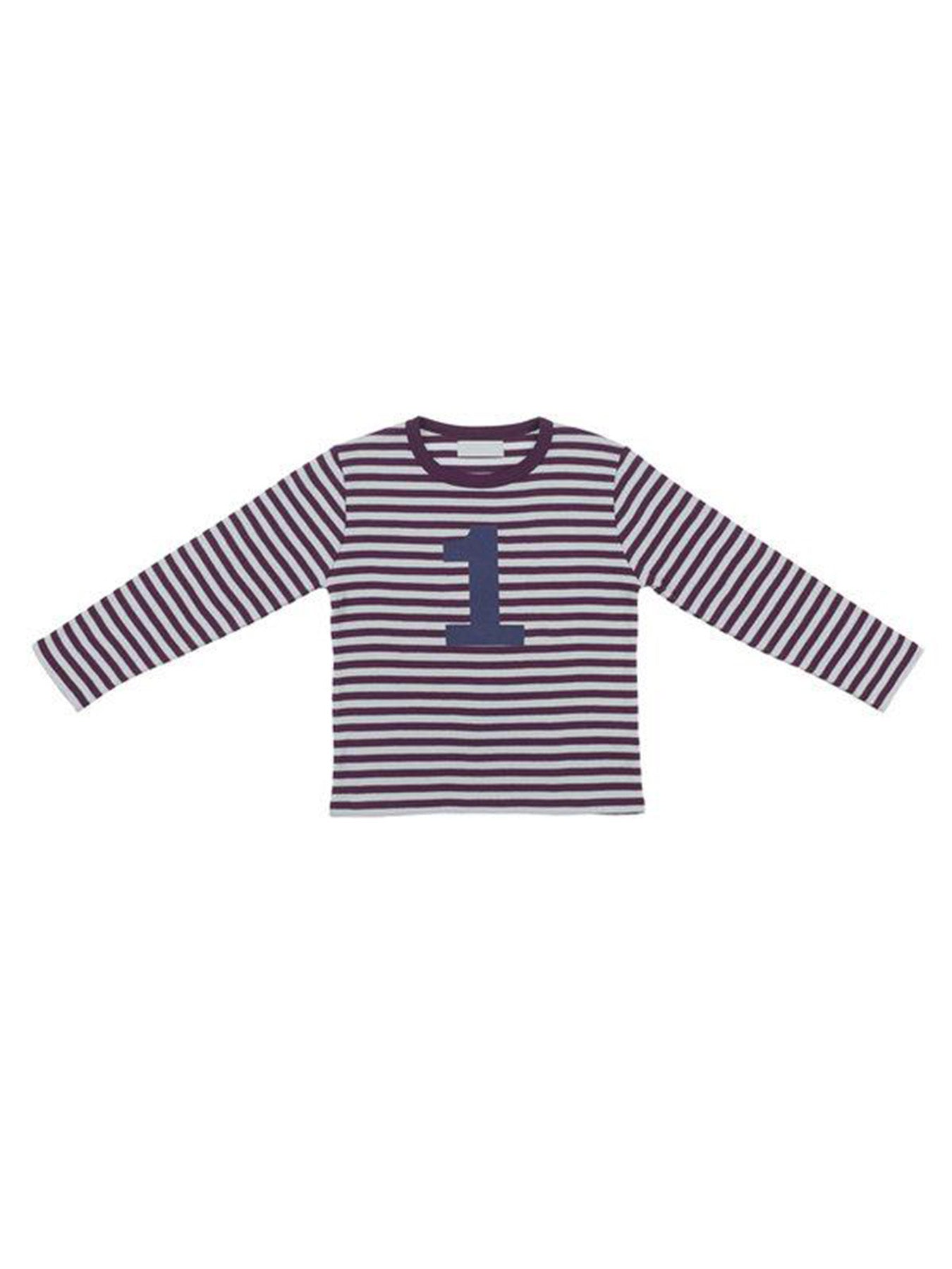 Plum & Dove Grey Number T Shirt (1/2Y)