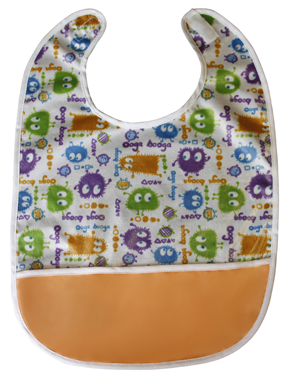 Ooga Booga Monsters Pocket Bib - Crumb Cap Baby Hair Bib for Mealtime