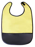 Busy Bee Pocket Bib - Crumb Cap Baby Hair Bib for Mealtime