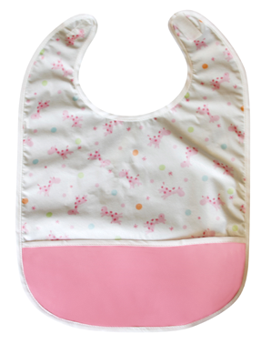 Baby Giraffe Pocket Bib - Crumb Cap Baby Hair Bib for Mealtime