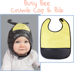 Busy Bee Crumb Cap - Crumb Cap Baby Hair Bib for Mealtime