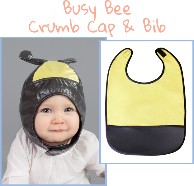 Busy Bee - Crumb Cap Baby Hair Bib for Mealtime
