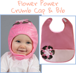Flower Power - Crumb Cap Baby Hair Bib for Mealtime
