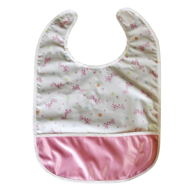 Baby Giraffe - Crumb Cap Baby Hair Bib for Mealtime