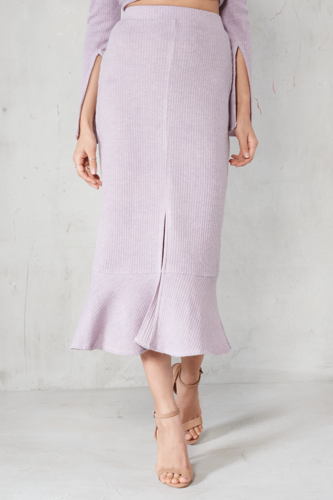 Knit Skirt with Slit
