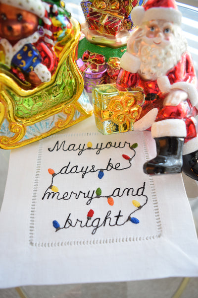 Merry and Bright Christmas Cocktail Napkins