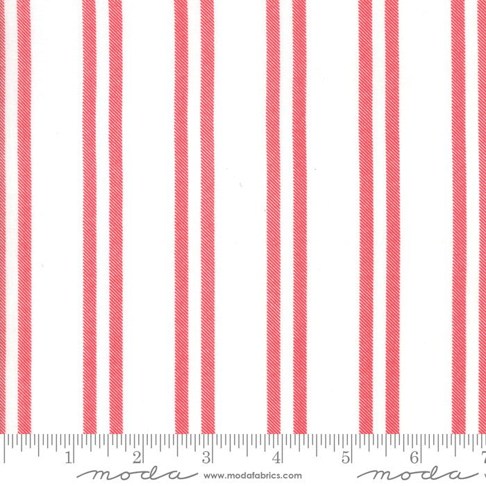 Farmhouse Stripes Snow Cranberry 5096-21