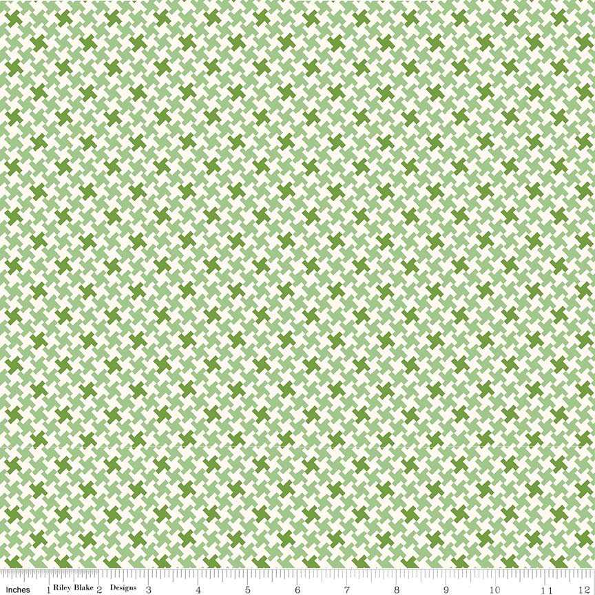 Houndstooth Green C7882-Green