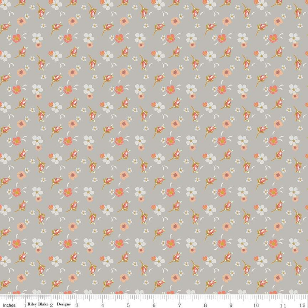Gray Floral C8601-GRAY