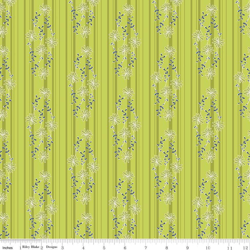 Daisy Stripe Green c6284