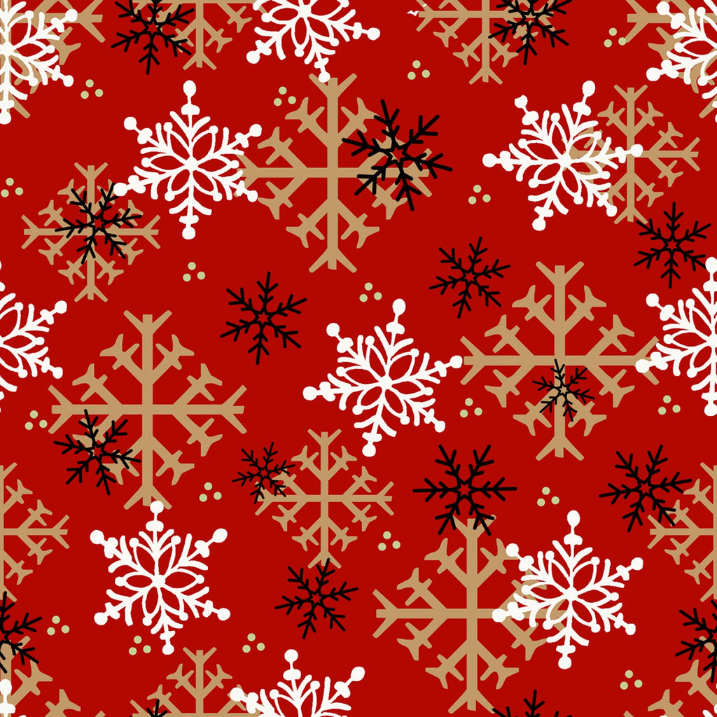 Red Snowflake F9268-88