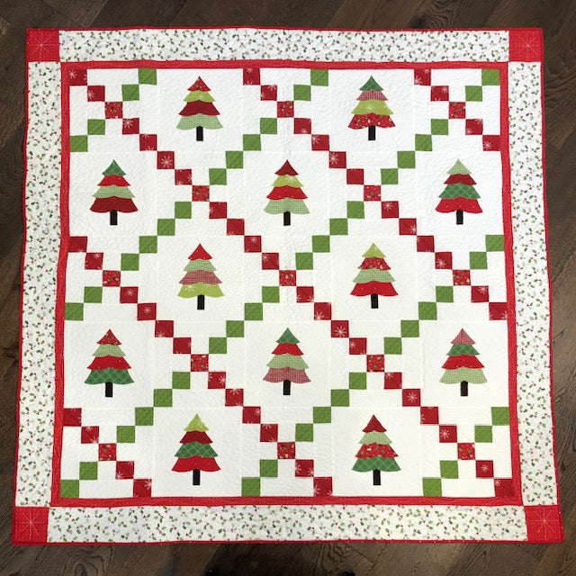 Patchwork Pines For Christmas Quilt Kit