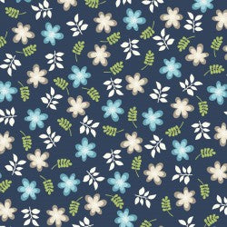Navy Friendly Flowers MAS9392-N